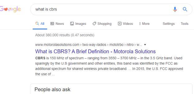 CBRS search
